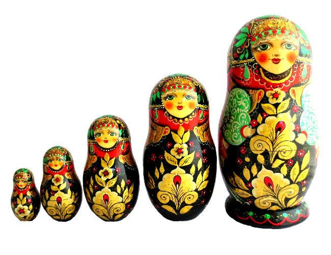Artisanat russe : Poup?es russes fleurs artisanat russe t