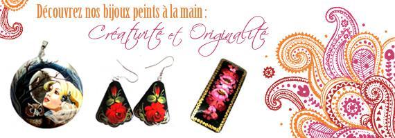 bijoux peints à la main