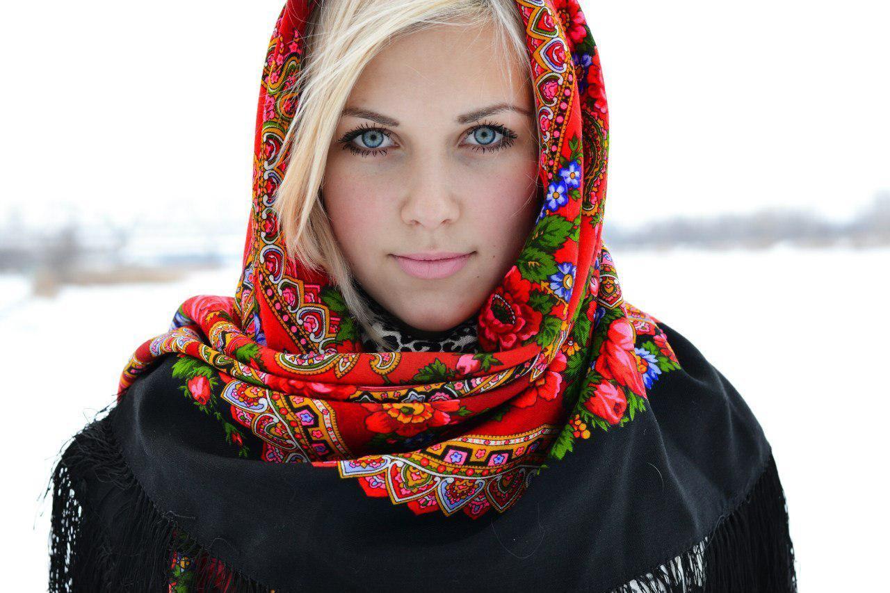 châle russe en laine