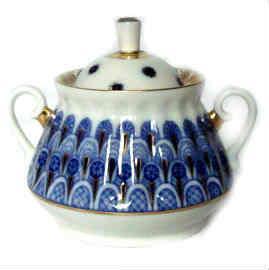 sucrier en porcelaine de lomonosov