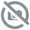 Russian shawl with traditional motives brown 100% wool - Evening at the manor